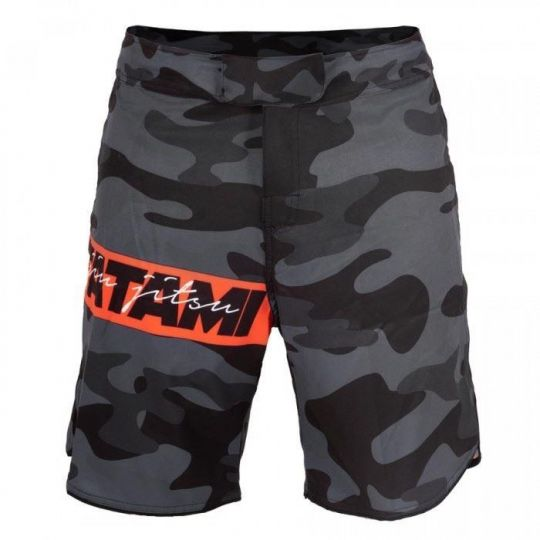 Tatami Red Bar Camo BJJ Shorts