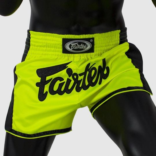 Fairtex Slim Cut Muay Thai Shorts - Green