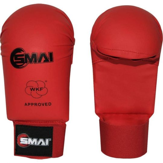 Blitz SMAI WKF Approved Gloves Without Thumb Red - Fight Equipment UK