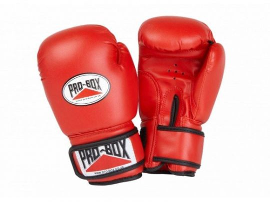 Pro Box Kids Base Spar Boxing Gloves - Red