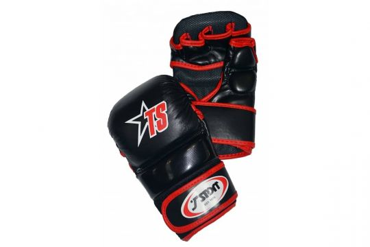 T-Sport MMA Sparring Gloves - Black/Red