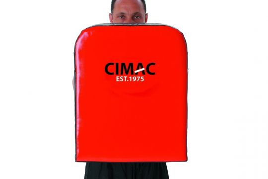 Cimac Large Straight Striking Shield - Red / Black