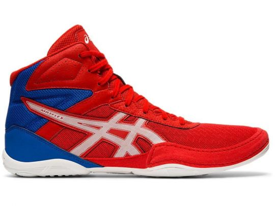 Asics Matflex 6 Adult Wrestling Boots - Red/White