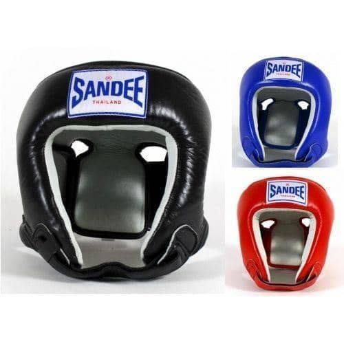 Sandee Kids Open Face Head Guard Synthetic Leather - Fight Equipment UK