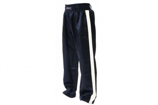 Cimac Satin Kickboxing Trousers - White Stripes