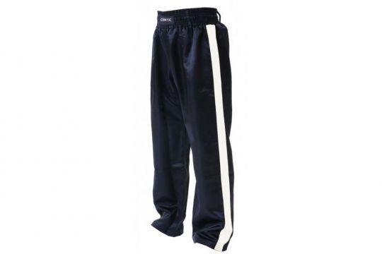 Cimac Satin Kickboxing Trousers - White Stripes