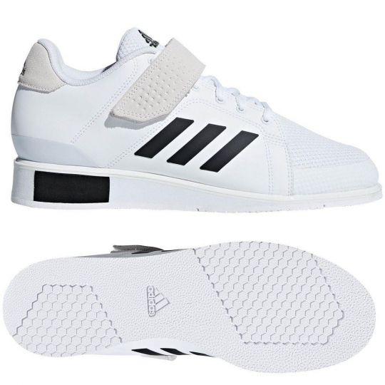 Adidas Power Perfect III Weightlifting Boots - White