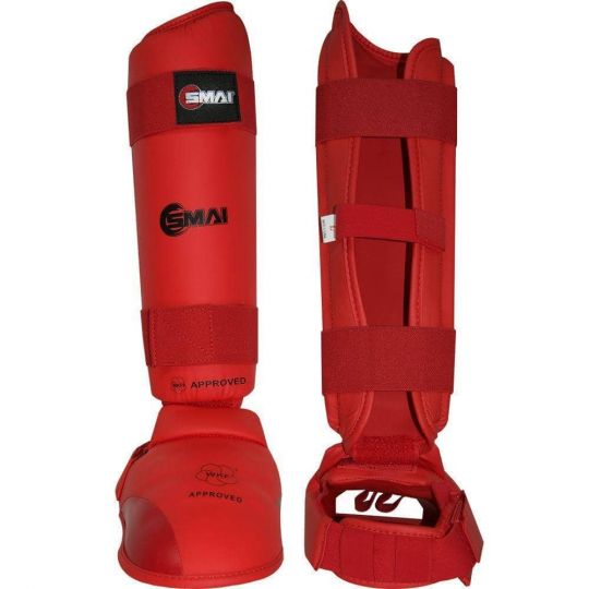 Blitz SMAI WKF Approved Shin & Instep Red - Fight Equipment UK