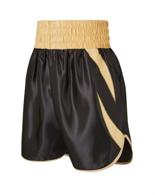 SW Sheedy Curved Boxing Shorts - Black/Gold