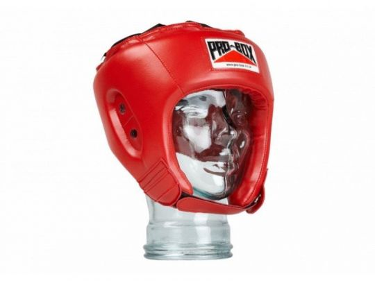 Pro Box Kids Base Spar Head Guard - Red