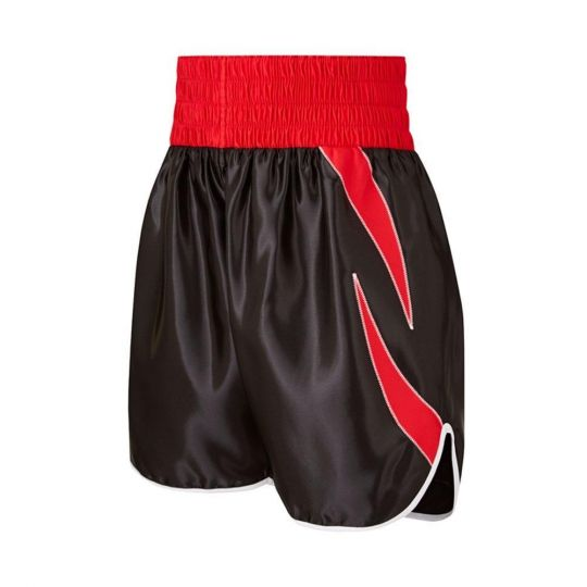 SW Sheedy Curved Boxing Shorts - Black/Red