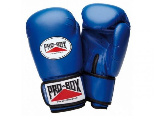 Pro Box Kids Base Spar Boxing Gloves - Blue