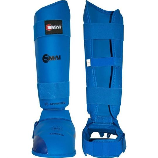 Blitz SMAI WKF Approved Shin & Instep Blue - Fight Equipment UK