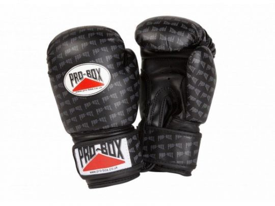 Pro Box Kids Base Spar Boxing Gloves - Black