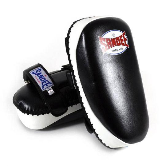 Sandee Curved Kick Pads - Black & White - Fight Equipment UK
