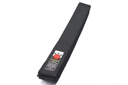 Cimac Superior Satin Karate Belt Black | Clothing | Fight Equipment UK
