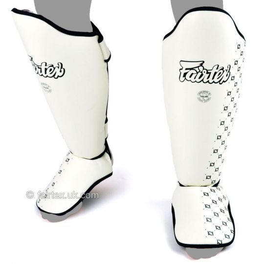 Fairtex Muay Thai Shin Pads - White