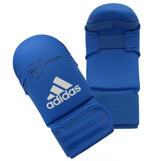 Adidas WKF Karate Mitts Without Thumb Blue