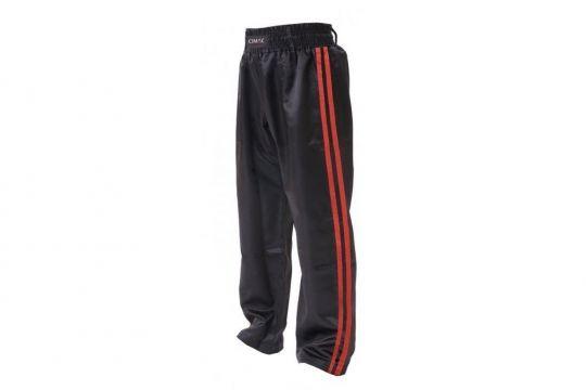 Cimac Satin Kickboxing Trousers - Red Stripes