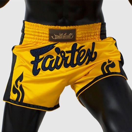 Fairtex Slim Cut Muay Thai Shorts - Yellow