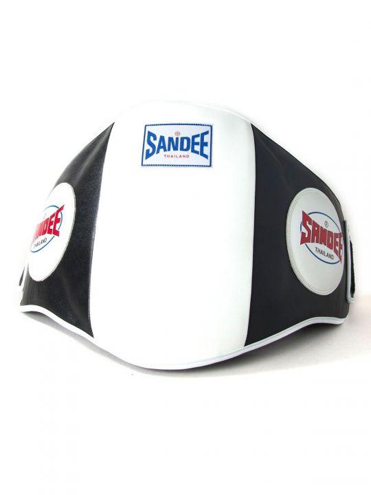 Sandee Muay Thai Belly Pad - Black/White