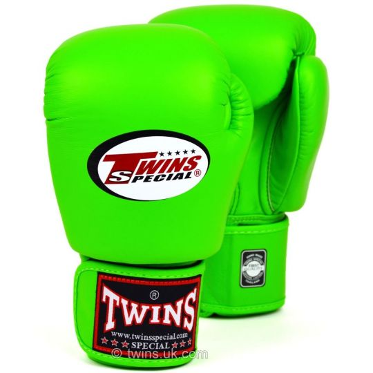 Twins Boxing Gloves - Lime Green