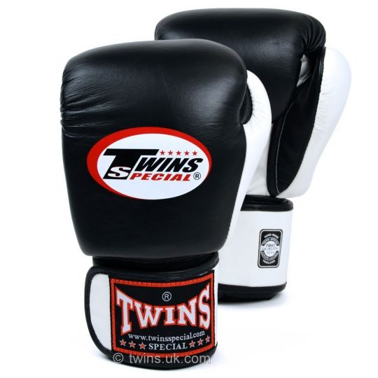 Twins Special 2 Tone Boxing Gloves - Black/White