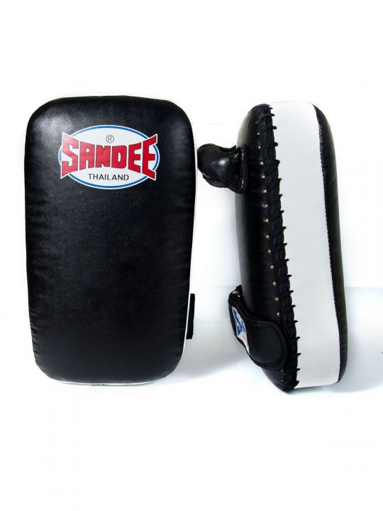 Sandee Small Muay Thai Kick Pads - Black/White