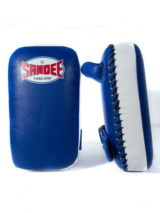Sandee Small Muay Thai Kick Pads - Blue/White