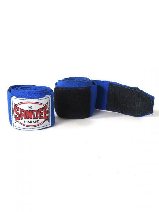 Sandee Muay Thai 2.5M Stretch Hand Wraps - Blue