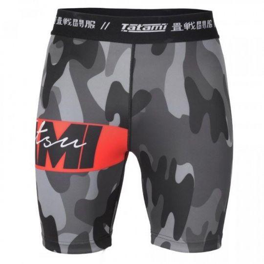 Tatami Red Bar Camo Vale Tudo Shorts