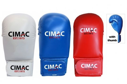 Cimac Competition Karate Mitts With Thumb
