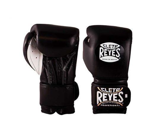 Cleto Reyes Velcro Sparring Boxing Gloves - Black