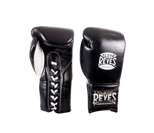 Cleto Reyes Lace Up Sparring Boxing Gloves - Black