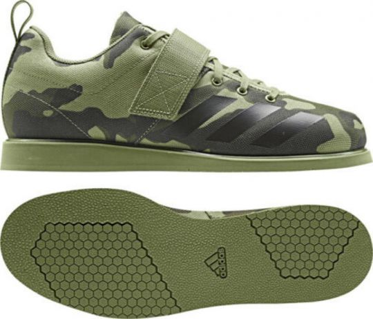 Adidas Powerlift 4 Weightlifting Boots - Olive Green