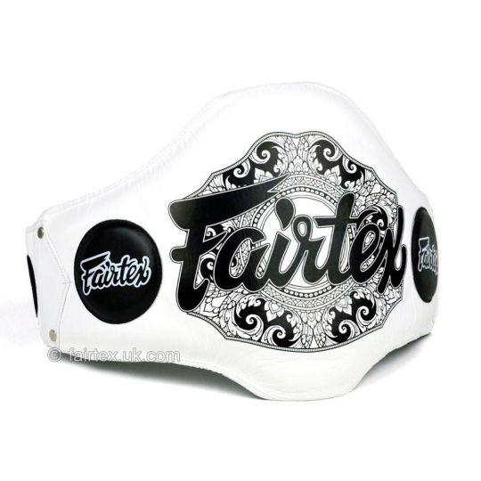 Fairtex Lightweight Belly Pad - White/Black