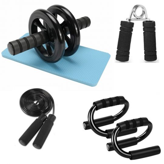 Home Gym 5 Piece Push Up & Ab Roller Set