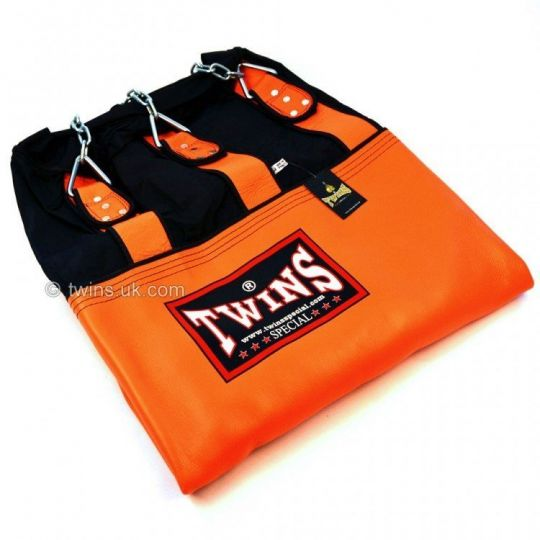 Twins Un-Filled 6ft Heavy Leather-Nylon Heavy Bag Orange