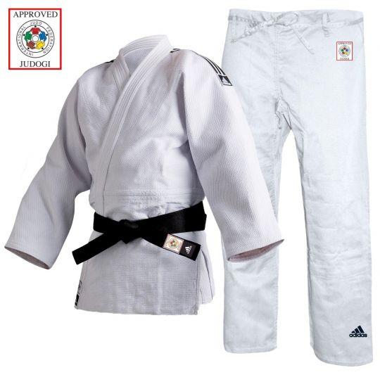 Adidas Champion II Judo Uniform White - IJF Approved