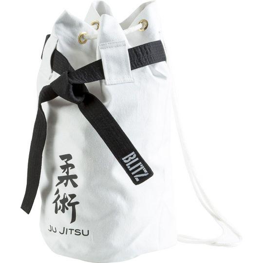 Blitz Sport Jujitsu Discipline Duffle Bag - White
