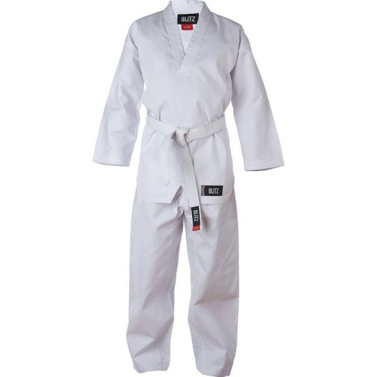 kids-plain-v-neck-polycotton-freestyle-suit