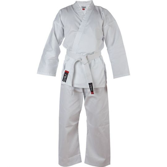 kids polycotton karate suit white