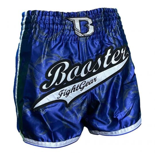 Booster TBT Pro Muay Thai Shorts - Blue/Silver