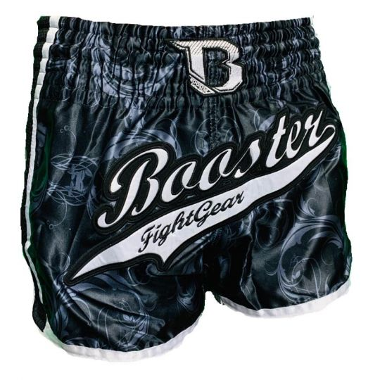 Booster TBT Pro Muay Thai Shorts - Black/Silver