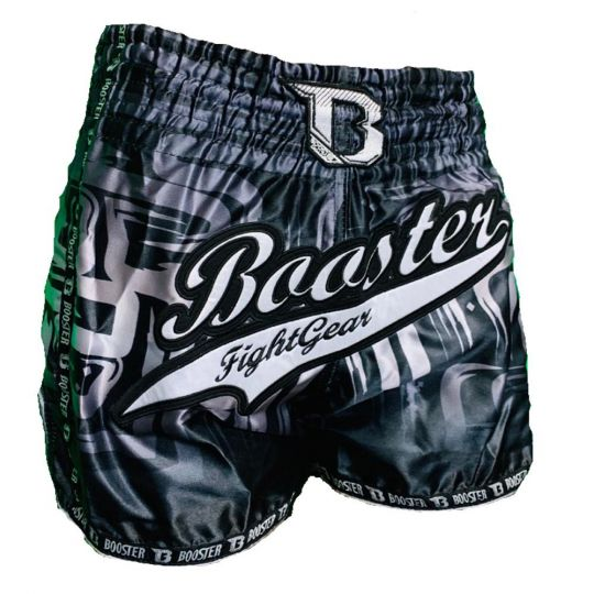 Booster Labyrint Muay Thai Shorts - Black/Silver