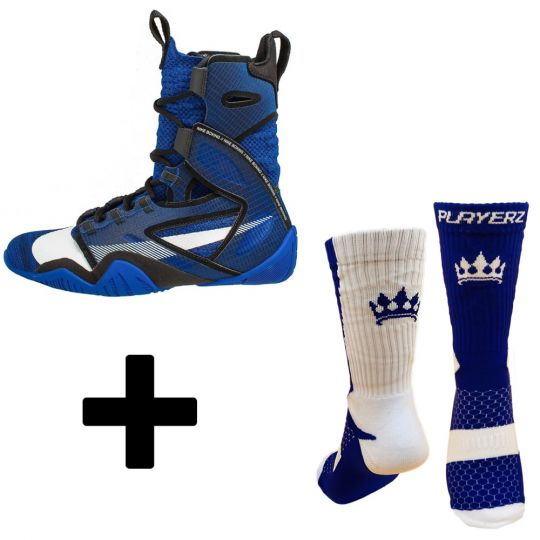 Nike Hyper KO 2 Boxing Boots - Blue (With Free Playerz Boxing Socks)