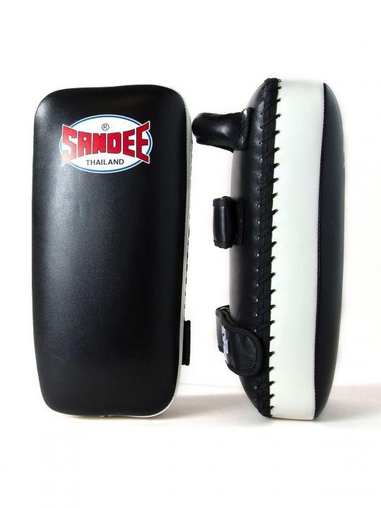 Sandee Large Muay Thai Kick Pads - Black/White
