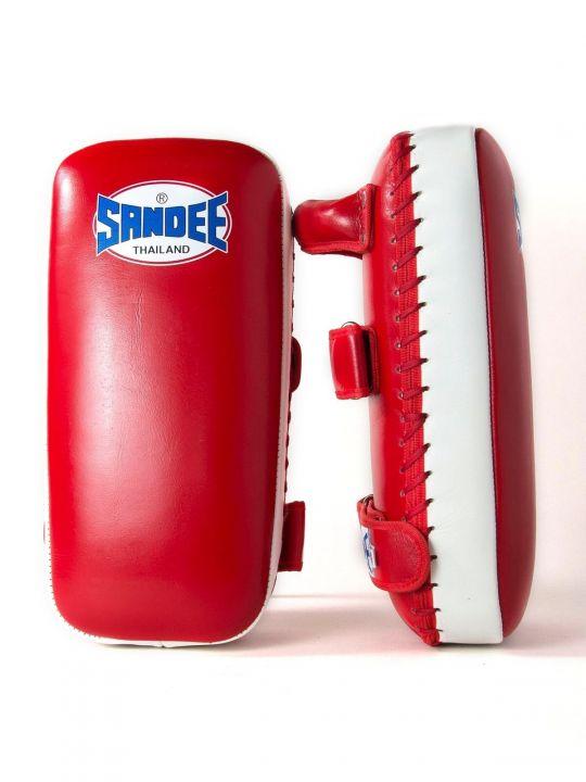 Sandee Muay Thai Kick Pads - Red/White