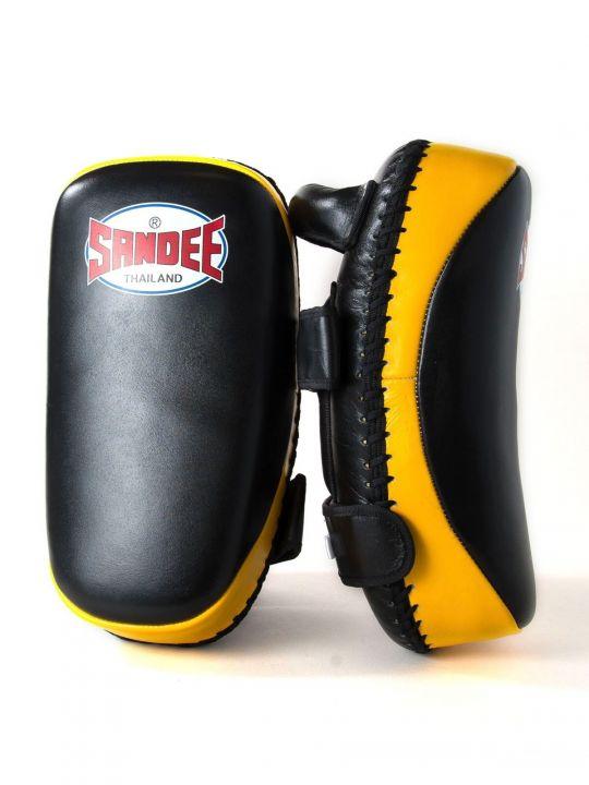 Sandee Curved Kick Pads - Black/Yellow