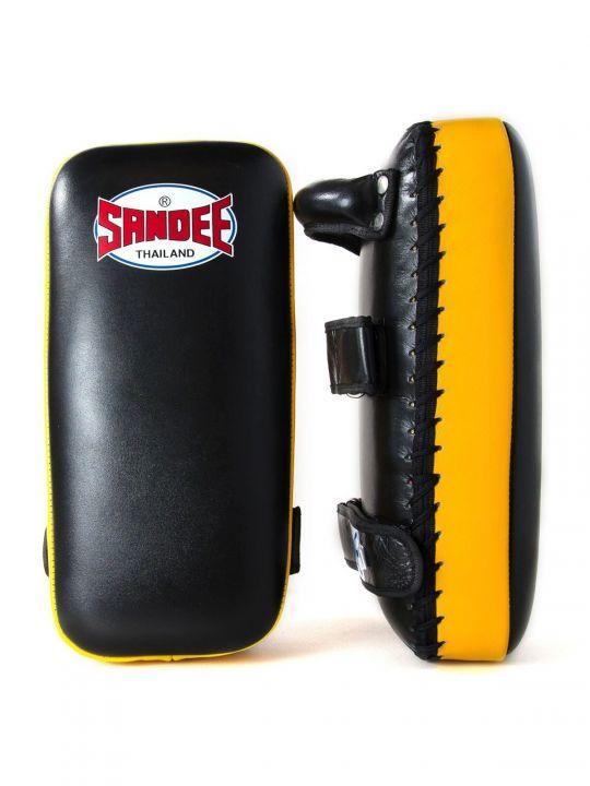 Sandee Large Muay Thai Kick Pads - Black/Yellow